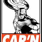 Captain America Cap'n Obey Design by SquallAndSeifer
