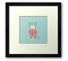 Cute cat clothing Framed Print