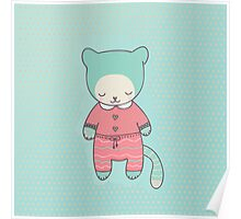 Cute cat clothing Poster