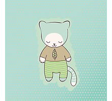 Cute cat clothing Photographic Print