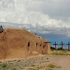 Primitive New Mexico Church by Gordon  Beck
