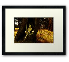 It's always been a game of hide and seek Framed Print