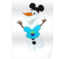 Olaf in Little Green Men Shirt  Poster
