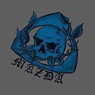 Skull Nut Blue by kandikittin