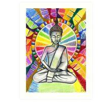 Colourful Buddha Art Print