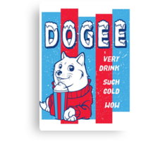 DOGEE - VERY DRINK, SUCH COLD, WOW Canvas Print