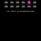 I'm just misunderstood, space invaders pacman by buud