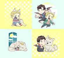 SHERLOCK-werewolf&vampire by locklocked