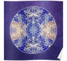 Flower of Life Blue Poster