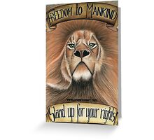 F.T.M Lion of Freedom Greeting Card