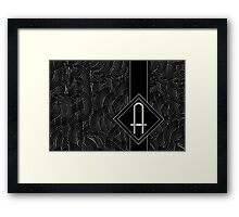 1920s Jazz Deco Swing Monogram black & silver letter A Framed Print