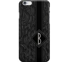 1920s Jazz Deco Swing Monogram black & silver letter B iPhone Case/Skin