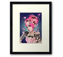 Raspberry ink Framed Print