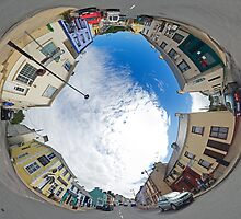 Kilcar Crossroads - Sky in by George Row