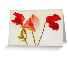 Sweet Pea Watercolour Greeting Card