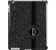 1920s Jazz Deco Swing Monogram black & silver letter D iPad Case/Skin