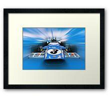 Jackie Stewart - 1969 MS80 Framed Print