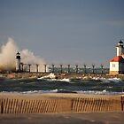 St Joseph North Pier Lighthouse - 1 by Debbie Mueller