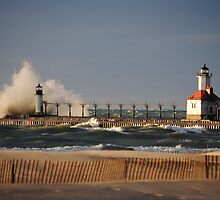 St Joseph North Pier Lighthouse - 1 by Debbie Mueller