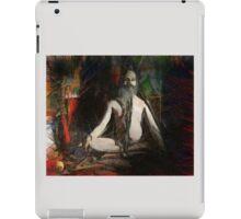 Guru Meditating on Red Velvet Island iPad Case/Skin