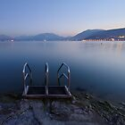 Annecy, dusk time on the beach by Patrick Morand