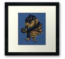 Sherlock // owl Framed Print