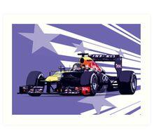 Championship Cars - Vettel 2013 Art Print