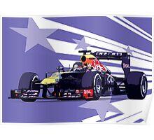 Championship Cars - Vettel 2013 Poster