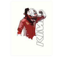 Kimi Raikkonen (WDC 2007) Art Print