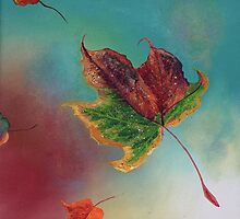 Sparkling Autumn Leaf by Linda Woodward