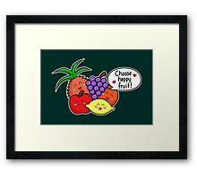 Happy Fruit - two lof bees Framed Print