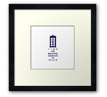 Time and relative dimension in space 2 Framed Print
