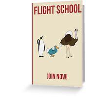 Flight School Illustration Greeting Card