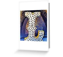 The Letter L Greeting Card