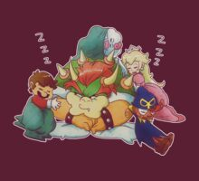 Bowser Mario Mallow Peach and Geno by SaradaBoru