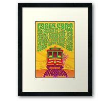 1960's Psychedelic San Francisco Cable Car Framed Print