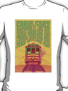1960's Psychedelic San Francisco Cable Car T-Shirt