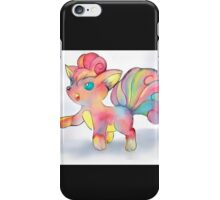 Rainbow Fire Fox (Vulpix) iPhone Case/Skin