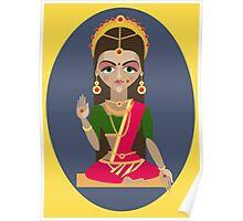 illustration of Hindu deity mother Parvati Poster
