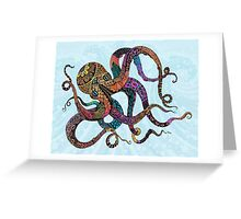Electric Octopus Greeting Card
