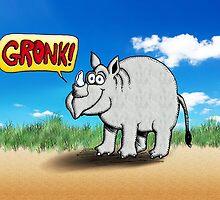 Rhinoceros Gronk! by PETER GROSS