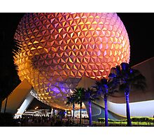 Spaceship Earth at Night Photographic Print