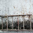decayed wall with ladder by Annemie Hiele