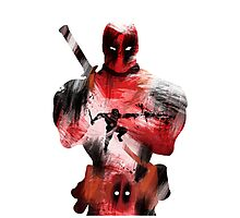 Deadpool Silhouette Photographic Print