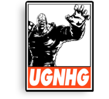 Nemesis UGNHG Obey Design Canvas Print