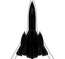 Blackbird SR-71 by Downwind