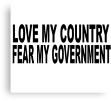 love my country Canvas Print