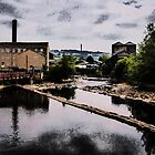The Calder Through Sowerby Bridge Oil Painting Effect by Glen Allen