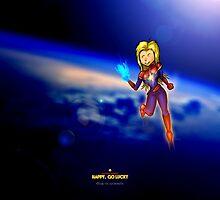 Happy, Go Lucky Captain Marvel by Tim Georgi