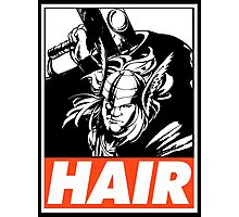 Thor Hair Obey Design Photographic Print